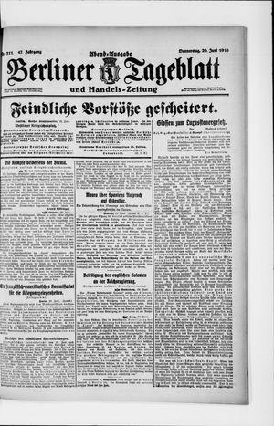 Berliner Tageblatt und Handels-Zeitung vom 20.06.1918