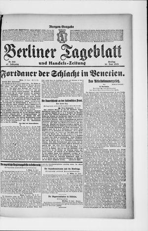 Berliner Tageblatt und Handels-Zeitung vom 21.06.1918