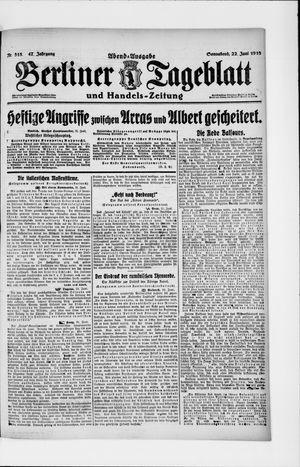 Berliner Tageblatt und Handels-Zeitung vom 22.06.1918
