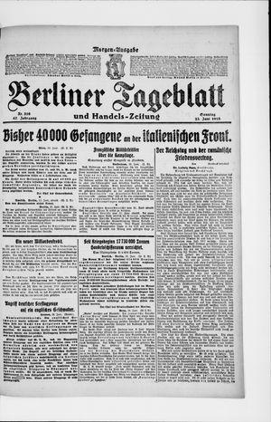 Berliner Tageblatt und Handels-Zeitung vom 23.06.1918