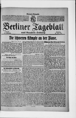 Berliner Tageblatt und Handels-Zeitung vom 25.06.1918