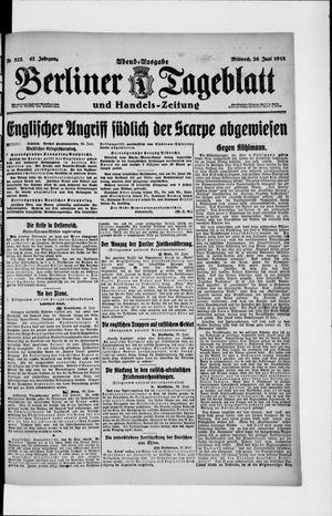 Berliner Tageblatt und Handels-Zeitung vom 26.06.1918