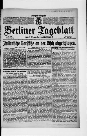 Berliner Tageblatt und Handels-Zeitung vom 27.06.1918