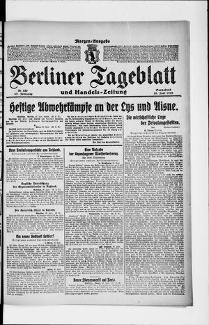 Berliner Tageblatt und Handels-Zeitung vom 29.06.1918
