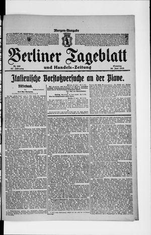 Berliner Tageblatt und Handels-Zeitung on Jun 30, 1918