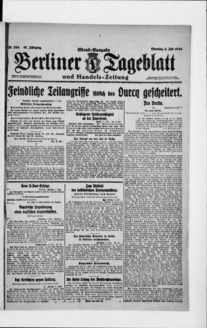 Berliner Tageblatt und Handels-Zeitung vom 02.07.1918