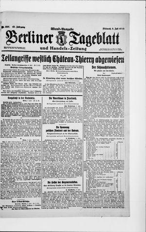 Berliner Tageblatt und Handels-Zeitung vom 03.07.1918