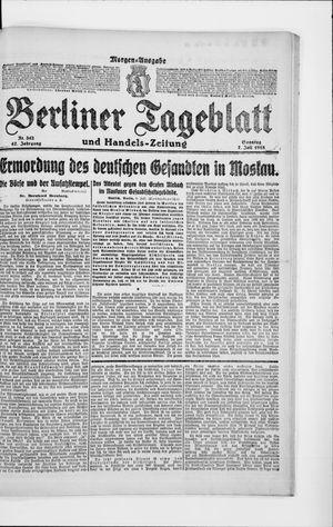 Berliner Tageblatt und Handels-Zeitung vom 07.07.1918