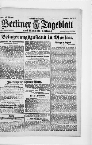 Berliner Tageblatt und Handels-Zeitung vom 08.07.1918
