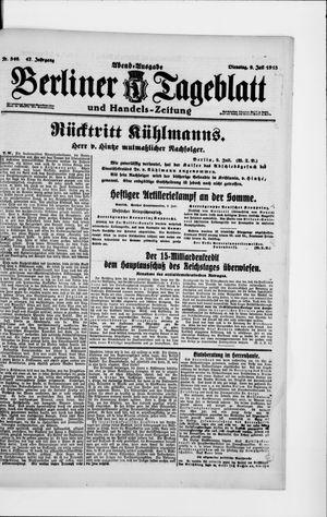 Berliner Tageblatt und Handels-Zeitung vom 09.07.1918