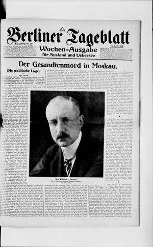 Berliner Tageblatt und Handels-Zeitung vom 10.07.1918