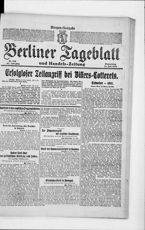 Berliner Tageblatt und Handels-Zeitung vom 11.07.1918