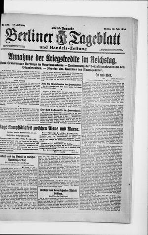 Berliner Tageblatt und Handels-Zeitung on Jul 12, 1918