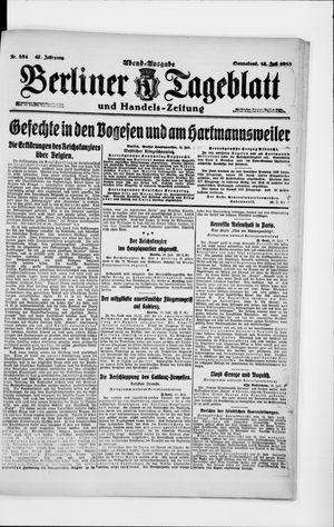 Berliner Tageblatt und Handels-Zeitung vom 13.07.1918