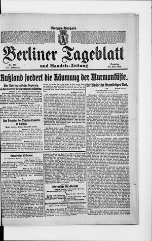 Berliner Tageblatt und Handels-Zeitung on Jul 14, 1918