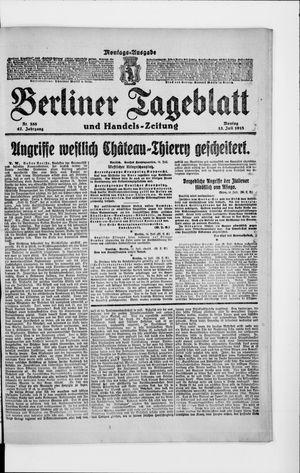 Berliner Tageblatt und Handels-Zeitung on Jul 15, 1918