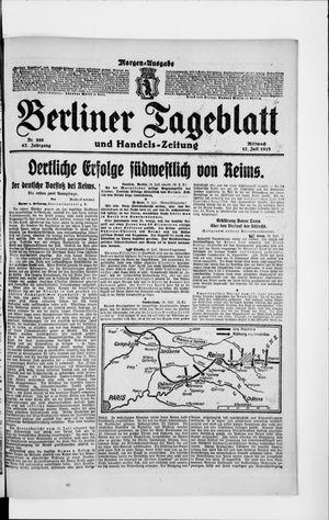 Berliner Tageblatt und Handels-Zeitung vom 17.07.1918