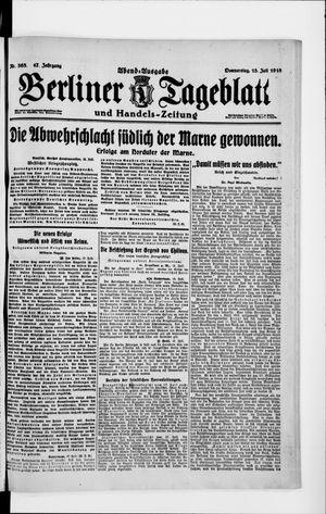 Berliner Tageblatt und Handels-Zeitung vom 18.07.1918