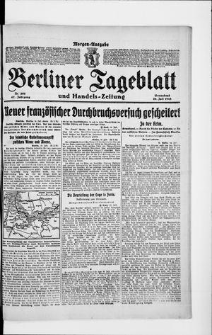 Berliner Tageblatt und Handels-Zeitung vom 20.07.1918