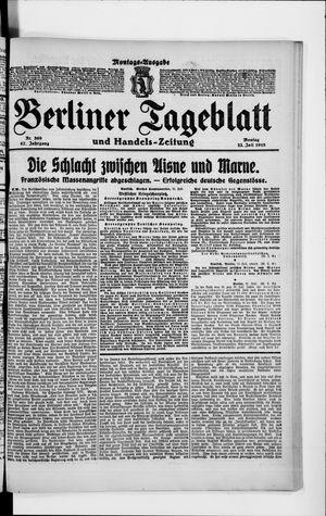 Berliner Tageblatt und Handels-Zeitung vom 22.07.1918
