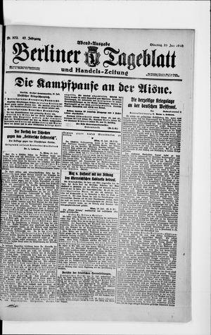 Berliner Tageblatt und Handels-Zeitung vom 23.07.1918