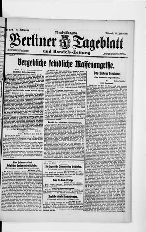 Berliner Tageblatt und Handels-Zeitung vom 24.07.1918
