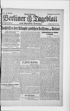 Berliner Tageblatt und Handels-Zeitung vom 25.07.1918
