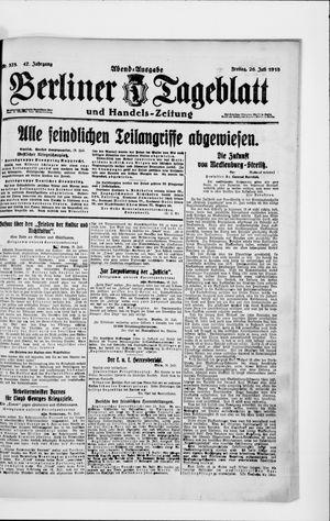 Berliner Tageblatt und Handels-Zeitung vom 26.07.1918