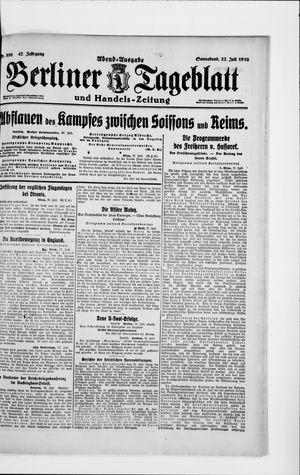 Berliner Tageblatt und Handels-Zeitung vom 27.07.1918