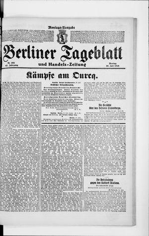 Berliner Tageblatt und Handels-Zeitung on Jul 29, 1918