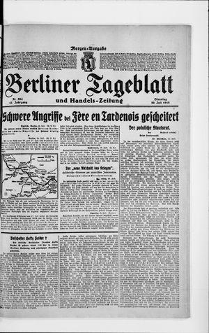 Berliner Tageblatt und Handels-Zeitung vom 30.07.1918