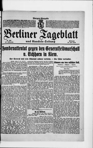 Berliner Tageblatt und Handels-Zeitung vom 31.07.1918