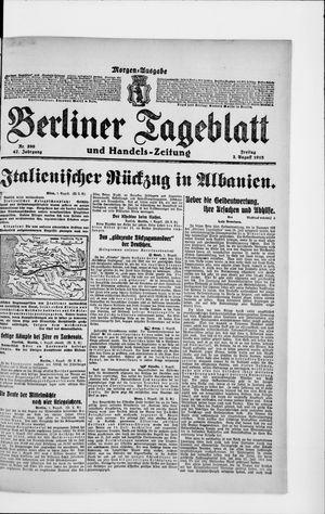 Berliner Tageblatt und Handels-Zeitung on Aug 2, 1918