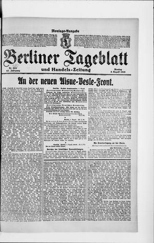 Berliner Tageblatt und Handels-Zeitung vom 05.08.1918
