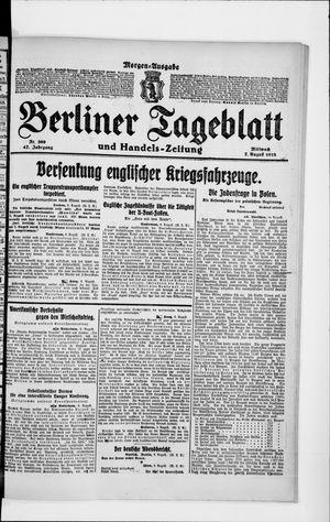 Berliner Tageblatt und Handels-Zeitung on Aug 7, 1918