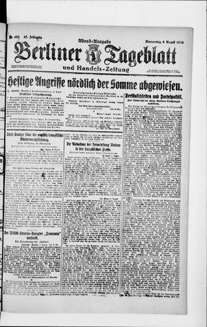 Berliner Tageblatt und Handels-Zeitung vom 08.08.1918