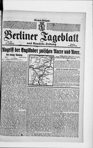 Berliner Tageblatt und Handels-Zeitung vom 09.08.1918