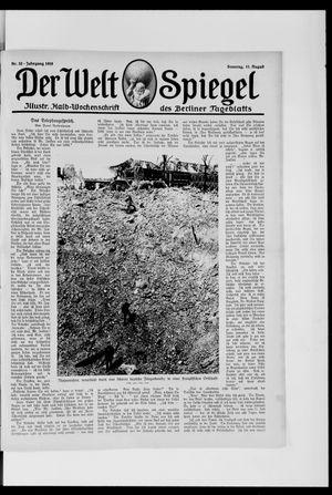 Berliner Tageblatt und Handels-Zeitung vom 11.08.1918