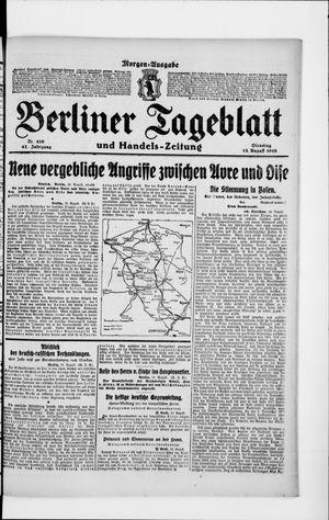 Berliner Tageblatt und Handels-Zeitung vom 13.08.1918
