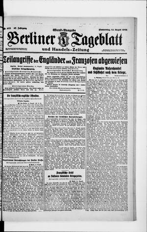 Berliner Tageblatt und Handels-Zeitung vom 15.08.1918