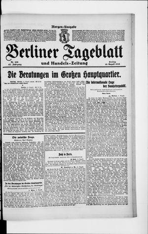 Berliner Tageblatt und Handels-Zeitung vom 16.08.1918