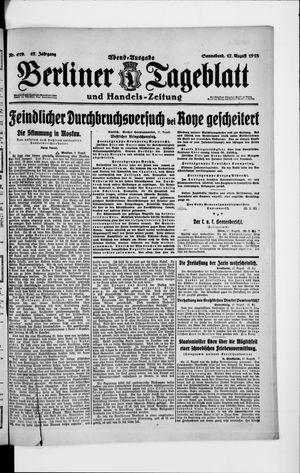 Berliner Tageblatt und Handels-Zeitung vom 17.08.1918