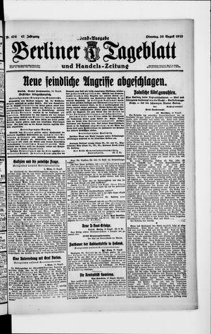 Berliner Tageblatt und Handels-Zeitung vom 20.08.1918