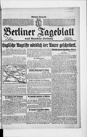 Berliner Tageblatt und Handels-Zeitung vom 22.08.1918