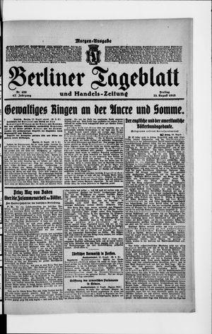 Berliner Tageblatt und Handels-Zeitung vom 23.08.1918