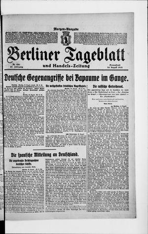 Berliner Tageblatt und Handels-Zeitung vom 24.08.1918