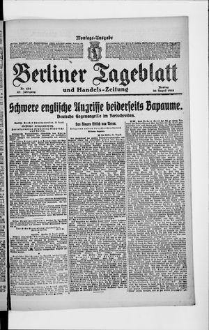 Berliner Tageblatt und Handels-Zeitung vom 26.08.1918