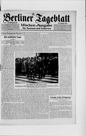 Berliner Tageblatt und Handels-Zeitung vom 28.08.1918