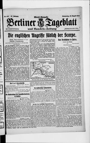 Berliner Tageblatt und Handels-Zeitung vom 29.08.1918
