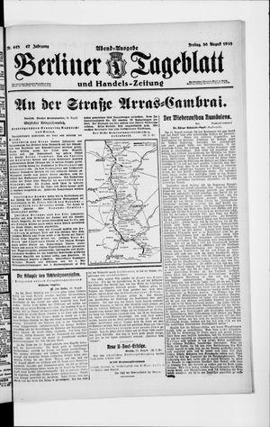Berliner Tageblatt und Handels-Zeitung vom 30.08.1918
